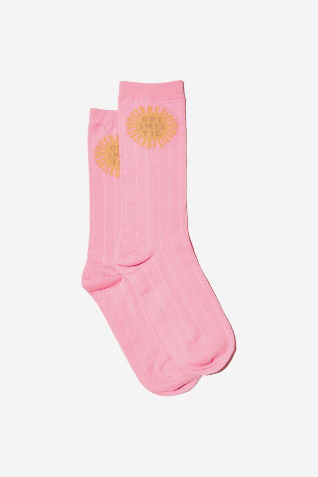 Socks, OPTIMISTIC PINK