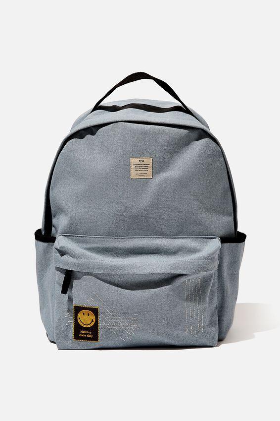 Exclusive Alumni Backpack, LCN SMI SMILEY DENIM