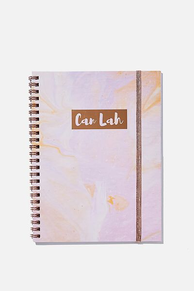 A5 Spinout Notebook Recycled, CAN LAH MARBLE