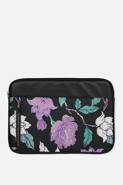 "Take Charge Laptop Cover 13"", LUSH FLORAL"