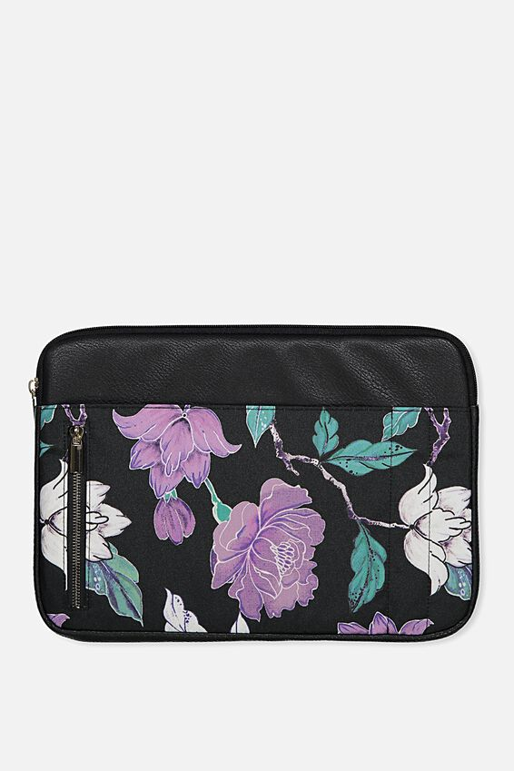 """Take Charge Laptop Cover 13"""", LUSH FLORAL"""