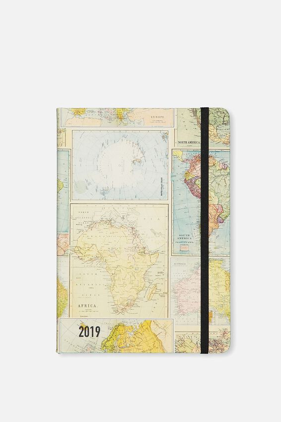 2019 A5 Weekly Buffalo Diary, GRID MAP