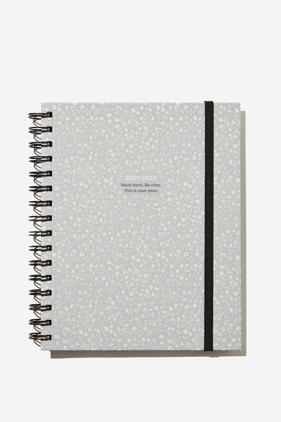 Student Planner 2021/22, COOL GREY MEADOW DITSY