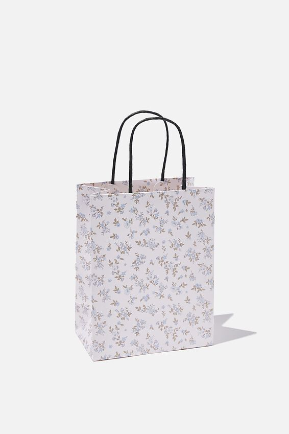 Get Stuffed Gift Bag - Small, COTTAGE FLORAL BLUE