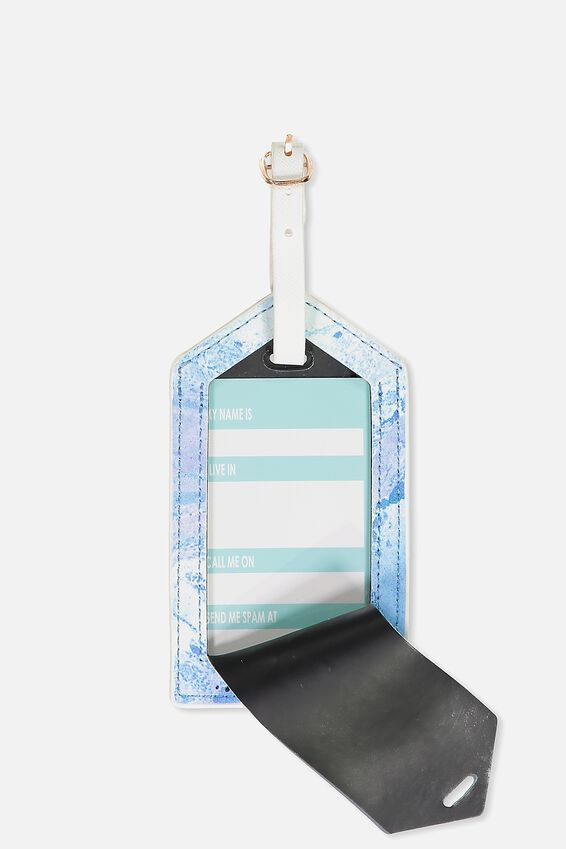 Luggage Tag, BLUE MARBLE