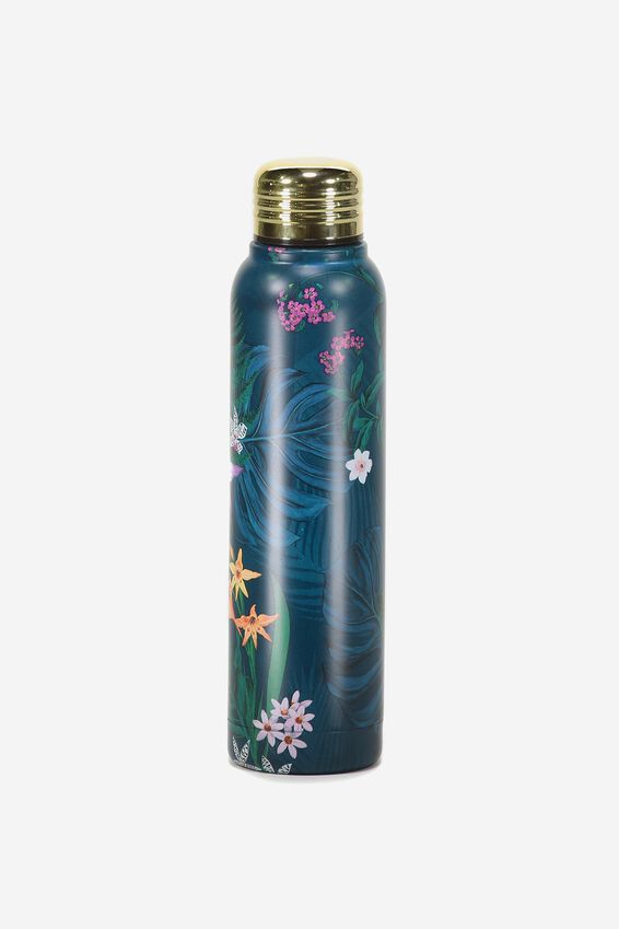 Small Metal Drink Bottle, JUNGLE FLORAL