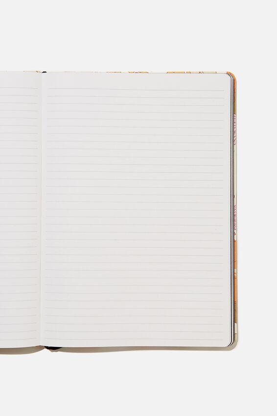 "A4 Buffalo Journal (8.2"" x 11.6""), PR STEVIE FLORAL PINK ORANGE"