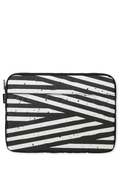 Your Freshie Laptop Case, BLACK STRIPES