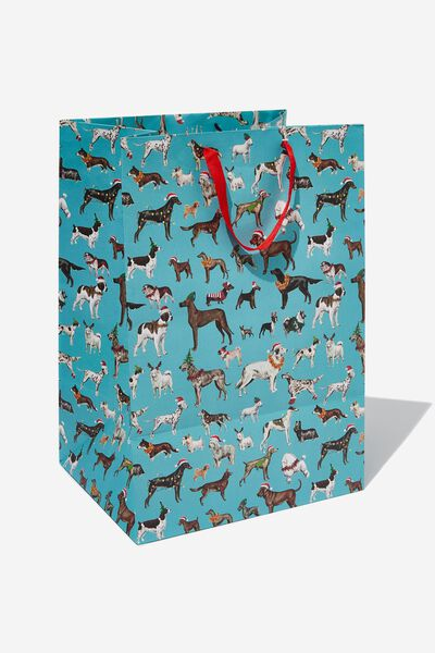 Large Stuff It Gift Bag, FESTIVE DOGS