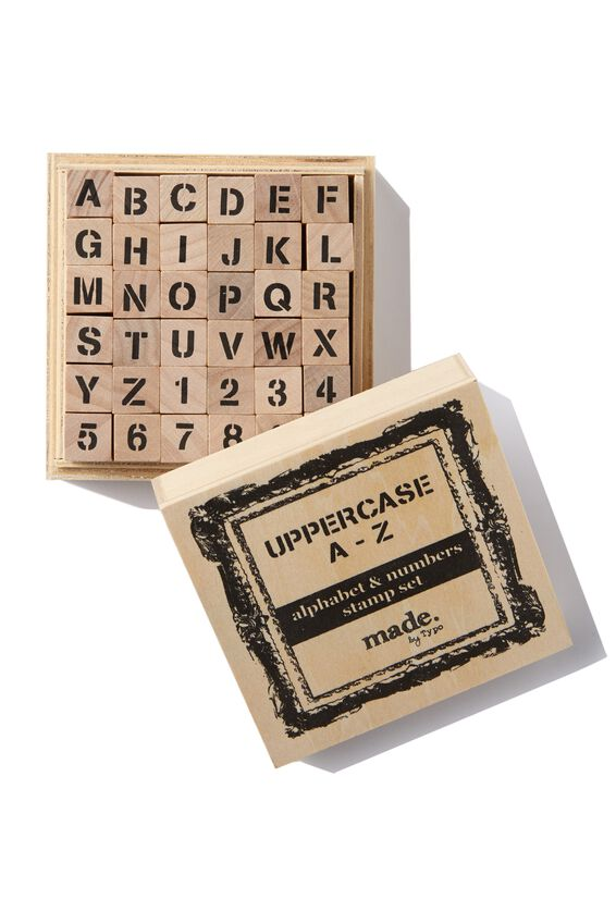 Letters And Numbers Stamp Set, UPPERCASE