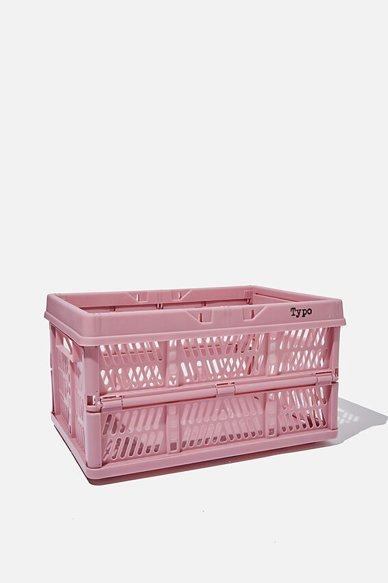 Large Foldable Storage Crate, MAUVE AMETHYST