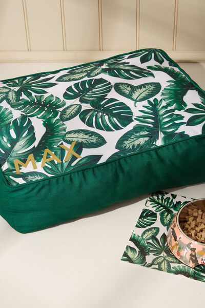 Personalised Large Printed Pet Bed, FOLIAGE