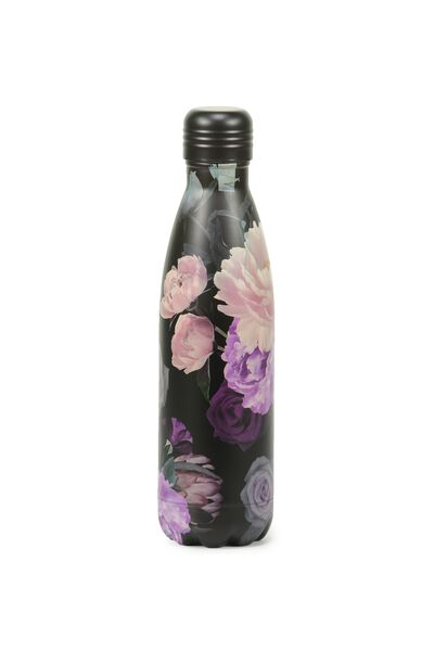 Metal Drink Bottle, FLORAL