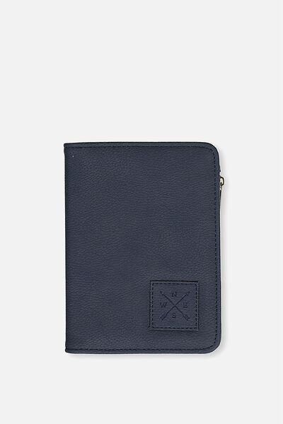 Classic Passport Holder, NAVY COMPASS