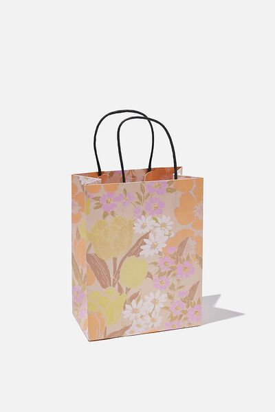Get Stuffed Gift Bag - Small, SAND GOLDIE FLORAL