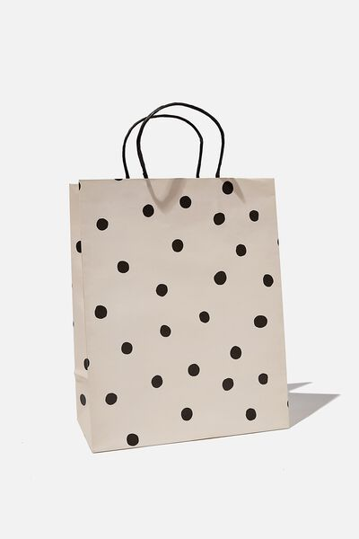 Get Stuffed Gift Bag - Medium, OVERSIZED POLKA