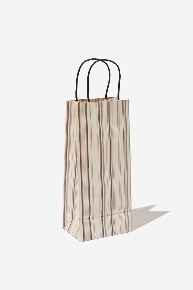 Bottle Gift Bag, VERIEGATED STRIPE
