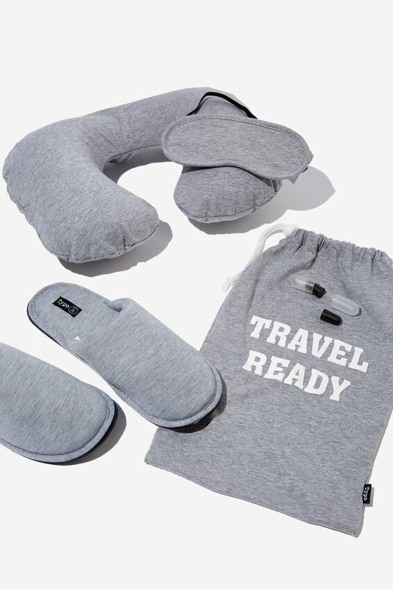 Travel Set, GREY MARLE L/XL