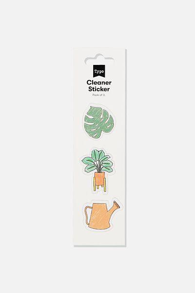 Cleaner Sticker, PLANTS