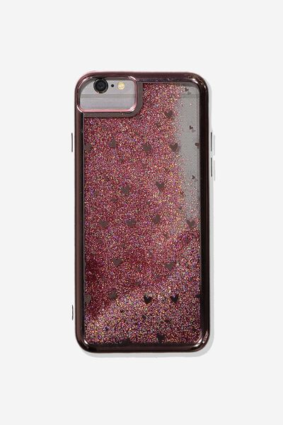 Shake It Phone Case Universal 6,7,8, ROSE GOLD HEARTS
