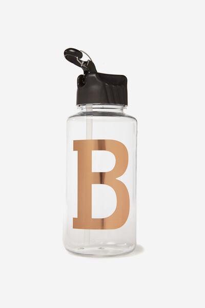 Alphabet Drink Bottle, ROSE GOLD B