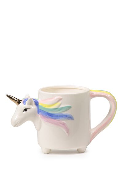 Novelty Shaped Mug, PASTEL UNICORN