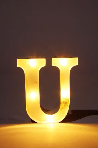 Mini Marquee Letter Lights 10cm, MARBLE U