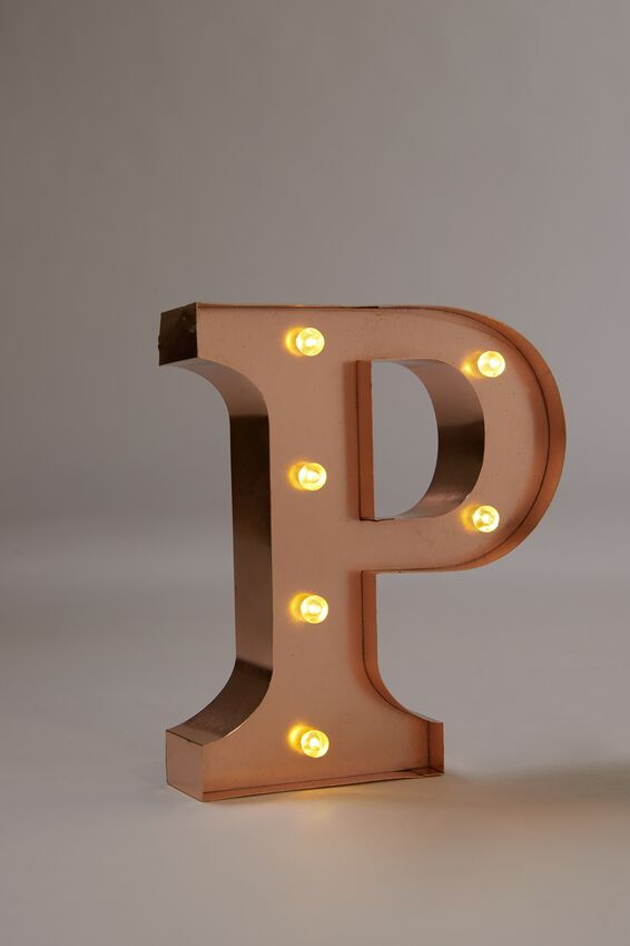 Marquee Letter Lights Premium 16cm Midi, ROSE GOLD P