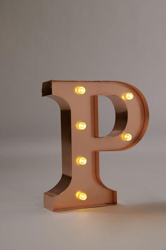Marquee Letter Lights Premium 6.3inch Midi, ROSE GOLD P