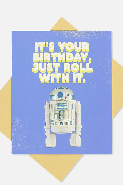 Nice Birthday Card, LCN JUST ROLL WITH IT