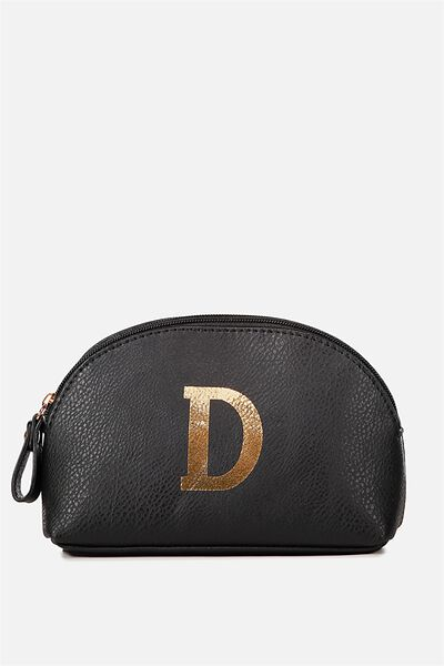 Alphabet Cosmetic Bag, D