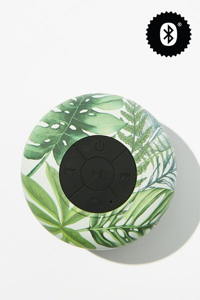 Wireless Shower Speaker, FERN FOLIAGE