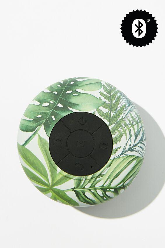 Wireless Shower Speaker, FERN FOLIAGE