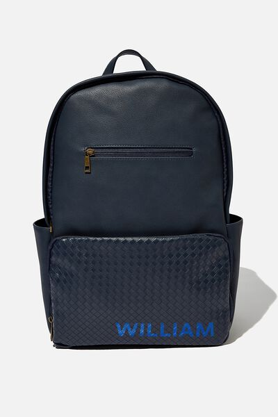 Personalised Formidable Backpack, NAVY WEAVE
