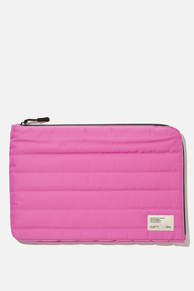 Utility Recycled 11 Inch Laptop Case, MAGENTA AND PLASTIC PINK