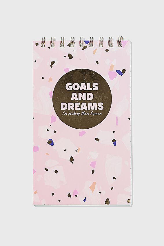 Flipout Notepad Recycled, GOALS DREAMS
