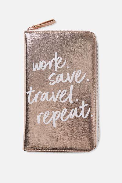 Odyssey Travel Compendium, ROSE GOLD QUOTE