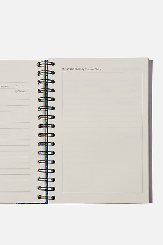 "A5 Fashion Activity Journal (8.27"" x 5.83""), I MADE IT MYSELF BLUE"