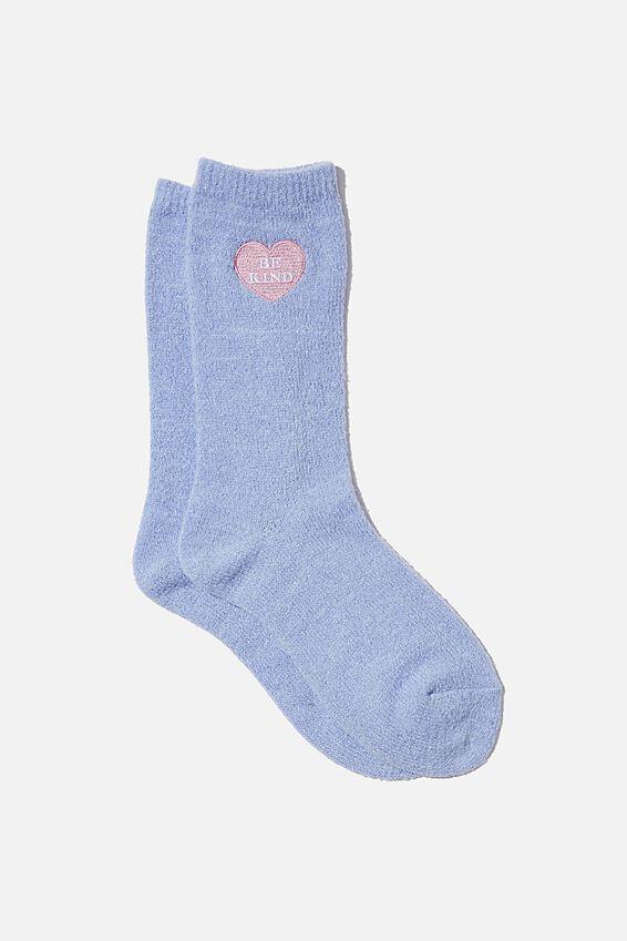 Textured Socks, BE KIND