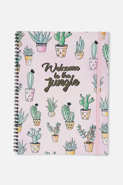 A4 Spinout Notebook - 120 Pages, WELCOME TO THE JUNGLE