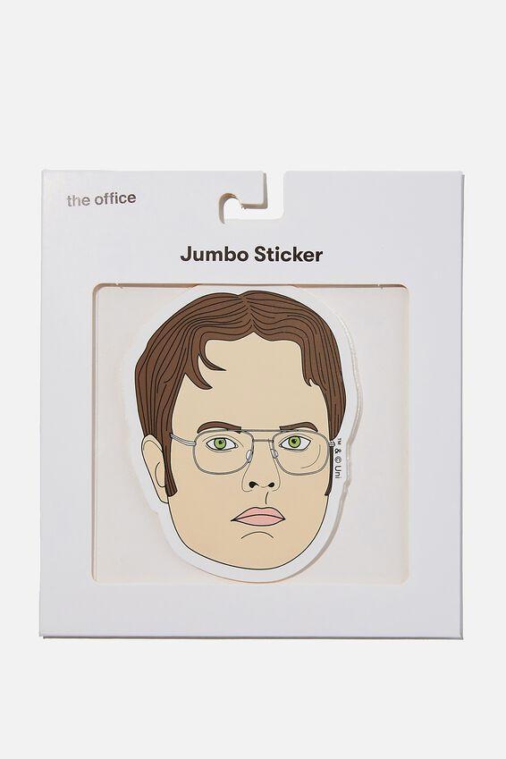 The Office Jumbo Sticker, LCN UNI DWIGHT