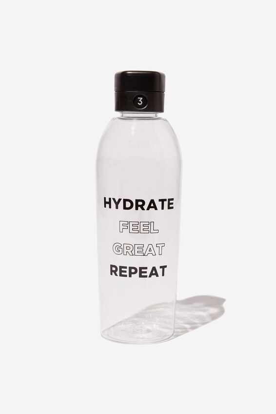 The Counter Drink Bottle, HYDRATE REPEAT