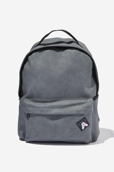 Premium Alumni Backpack Pu, LCN DIS MICKEY PATCH WELSH SLATE