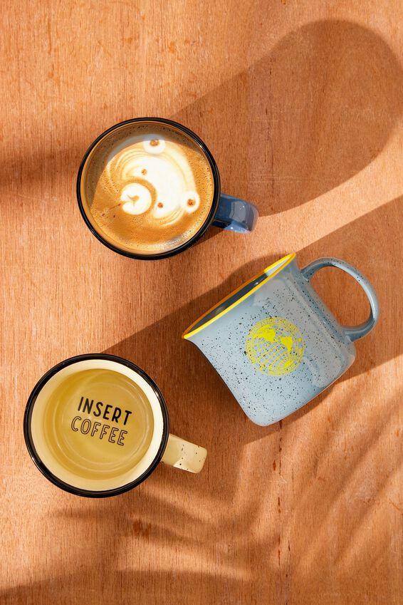 Large Ceramel Mug, PARCHMENT INSERT COFFEE