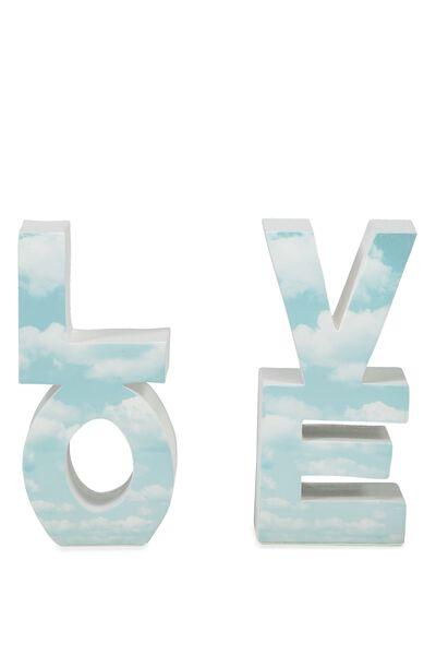 Set 2 Love Bookends, CLOUD LOVE