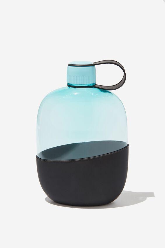 Happy Camper Drink Bottle, BLUE & BLACK