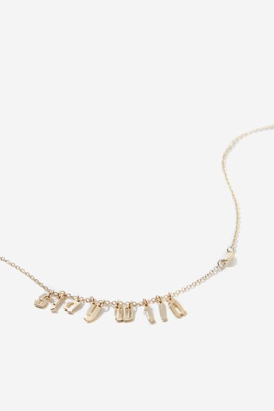 Novelty Necklace, STAY WILD