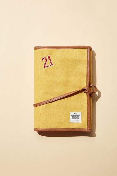 Personalised Artist Marker Case 36, MUSTARD CANVAS