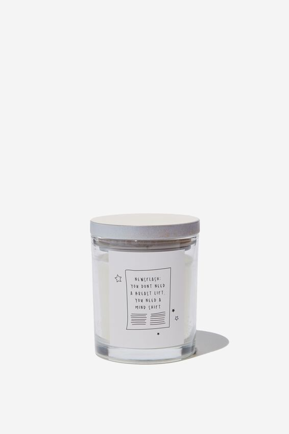 Cashmere and Blonde Wood Candle, NEWS FLASH