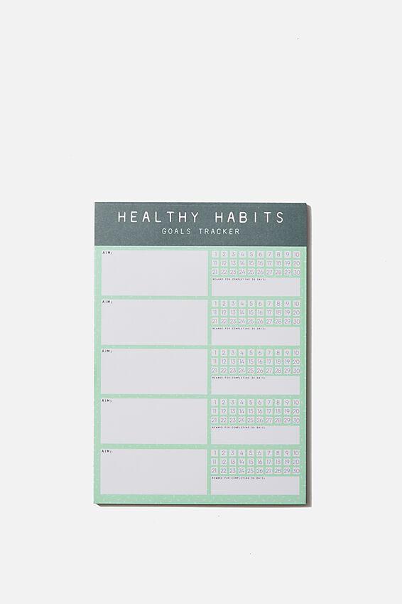 "A5 Wellness Tracker (8.27"" x 5.83""), HEALTHY HABITS"